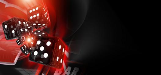 Red Craps Dices Casino Banner