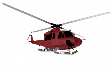Red Helicopter PNG