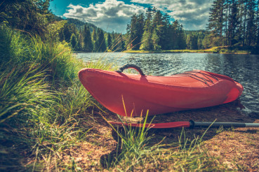 Red Kayak on the Shore
