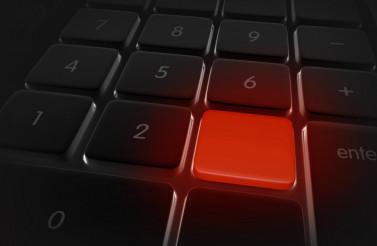 Red Keyboard Alert Button