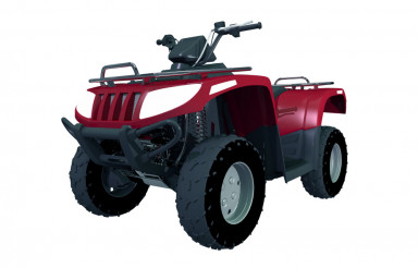 Red Modern Quad Bike ATV