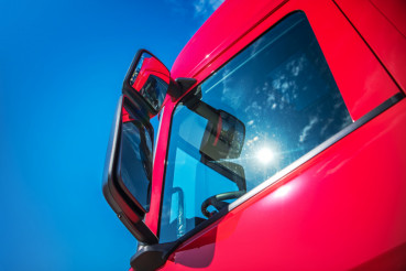 Red Modern Semi Truck