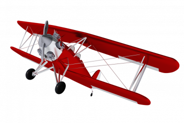 Red Old Biplane PNG
