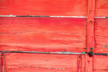 Red Painted Aged Wood