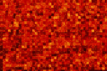 Red Pixel Dots Background