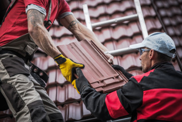 Red Roof Tiles Installation