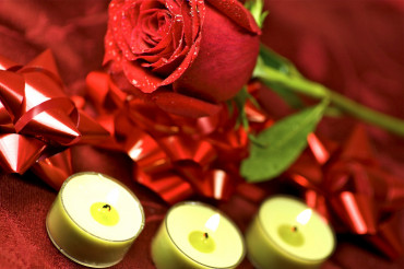 Red Rose and Candles