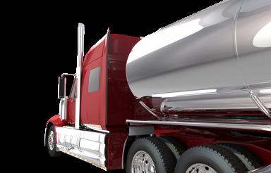 Red Tanker Truck Closeup