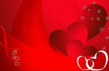 Red Valentine Hearts Abstract