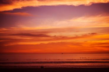 Reddish Beach Sunset