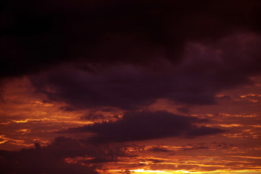 Reddish Sunset Clouds