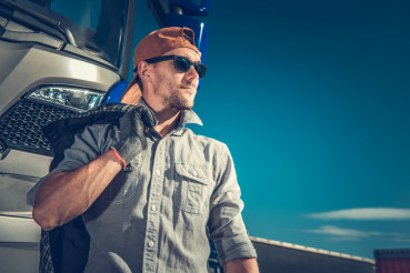 Relaxed Truck Driver