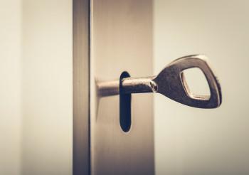 Residential Door Lock with Metal Key Inside