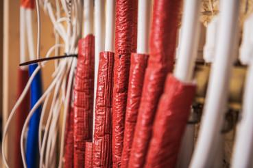 Residential Floor Heating Pipelines Close Up