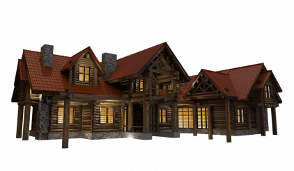 Residential Full Size Log House