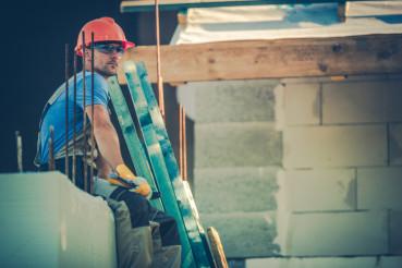 Resting Caucasian Worker