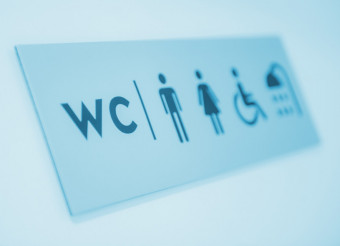 Restroom and Showers Sign