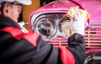 Retro Car Body Cleaning