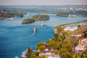 Rhine River in Bingen