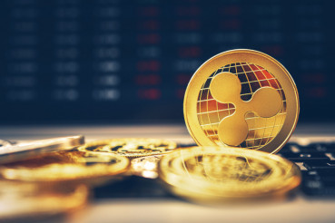 Ripple Crypto Coin Closeup