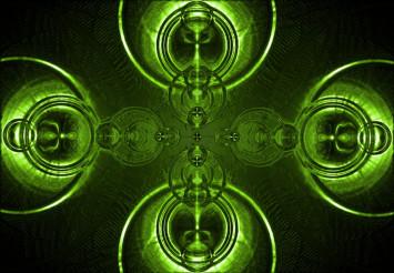 Ripple Green Abstract