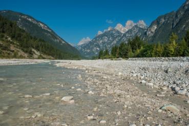 River Ansiei Valley Dolomites
