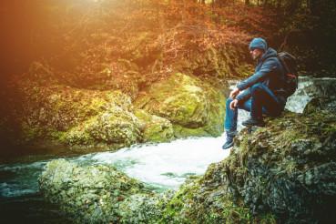 River Boulder Resting
