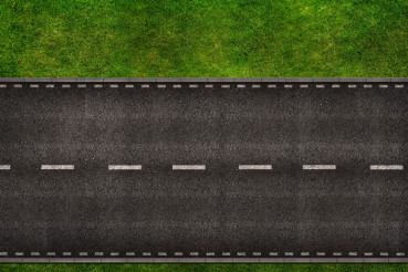 Road From Above Illustration