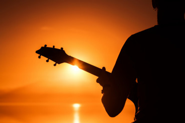 Rock Musician with Guitar