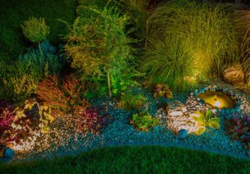 Rocky Garden with Lighting