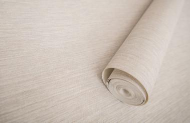 Roll of Modern Vinyl Wallpaper on a Floor