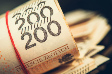 Roll of Polish Zloty Banknotes