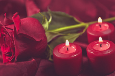 Romantic Rose and Candles