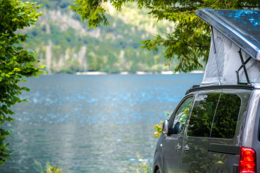Rooftop Tent Lake Camping