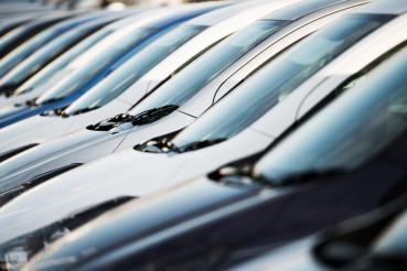 Row of Modern Cars