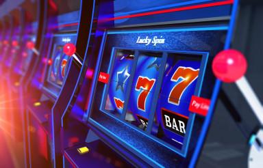 Row of Slot Machines 3D