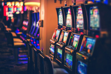 Rows of Casino Slot Machines