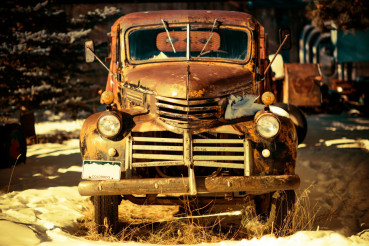 Rusty Aged Pickup Truck