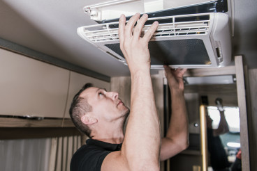 RV Appliances Technician at Work