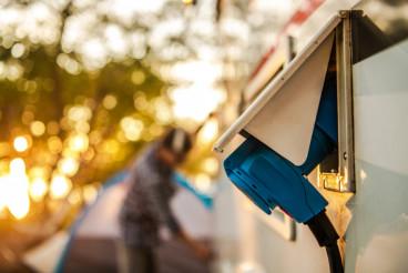RV Camper Electric Hookup