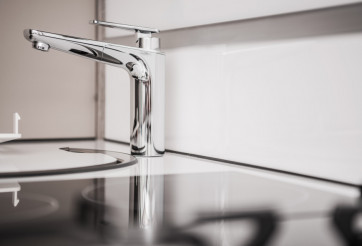 RV Camper Sink Closeup