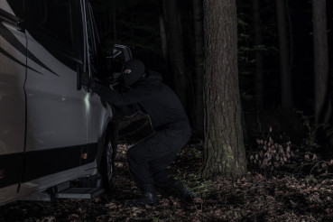 RV Camper Thief in Night Time Action