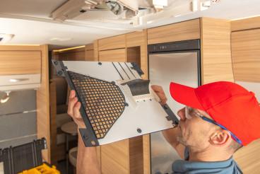 RV Camper Van Air Condition Unit Maintenance