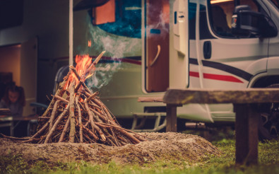 RV Park Pitch Campfire