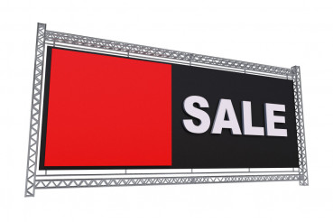 Sale Banner Isolated on White