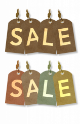 Sale Paper Labels Isolated