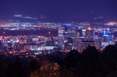 Salt Lake City Night Scenery