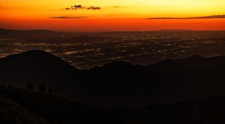 San Bernardino, Riverside and Moreno Valley Panorama After Sunset