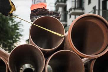 Sanitary Pipeline Installation