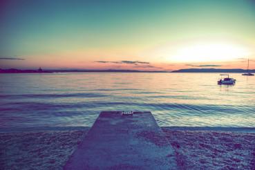 Scenic Adriatic Beach Sunset